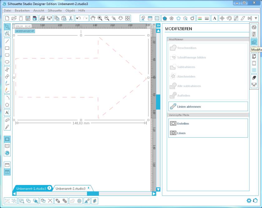 Gestrichelte Linien plotten, plotten, anleitung, silhouette software anleitung, tutorial, anleitung deutsch, modifzieren,offset, ideen, inspiration,