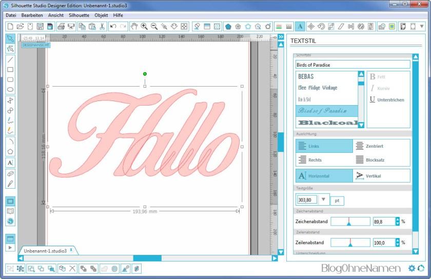 Plotter - Schriftarten - Wie man Buchstaben auseinander schiebt (1)