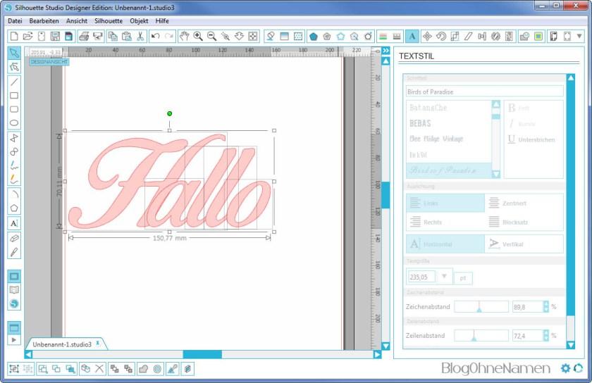 Plotter - Schriftarten - Wie man Buchstaben auseinander schiebt (6) Einzelne Buchstaben verschieben