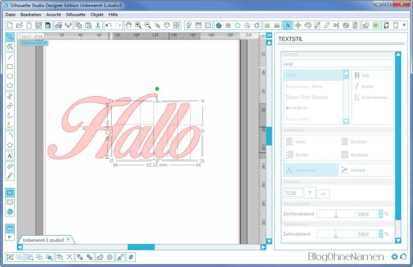 Plotter - Schriftarten - Wie man Buchstaben auseinander schiebt (8)
