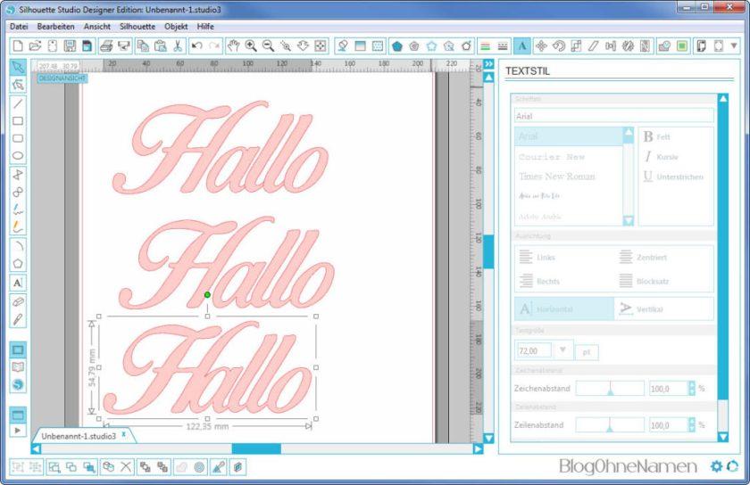 Plotter - Schriftarten - Wie man Buchstaben auseinander schiebt (9) Einzelne Buchstaben verschieben
