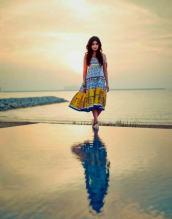 Shruti Hassan ShoppersStop- Multi Colour Tent Dress (2)