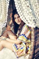 Shruti Hassan ShoppersStop- Poncho and Denim Hot-pants (2)