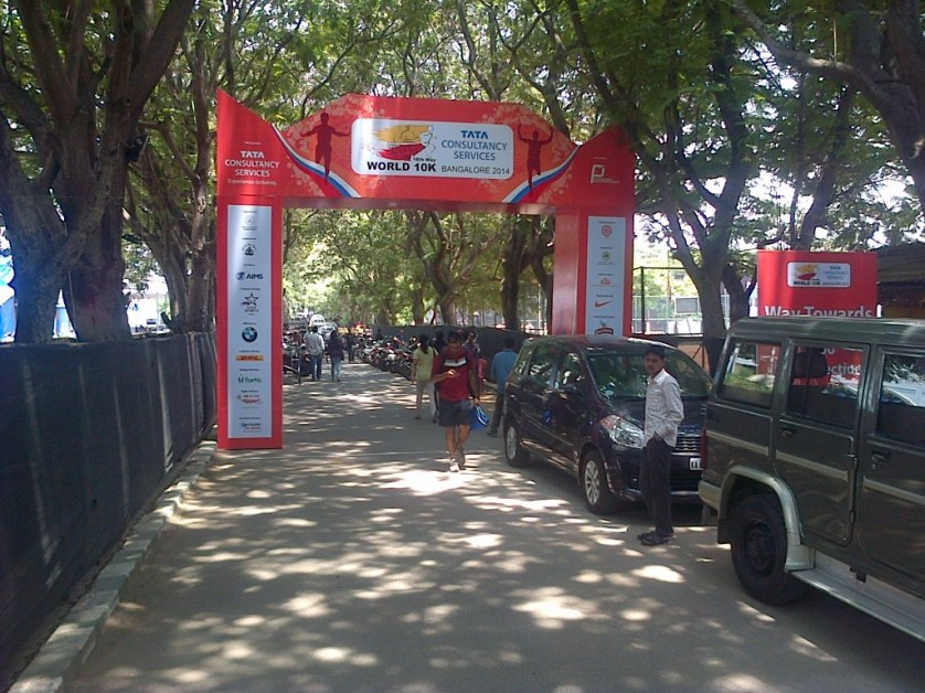 Entrance on Expo day. Also the finish line on race day.