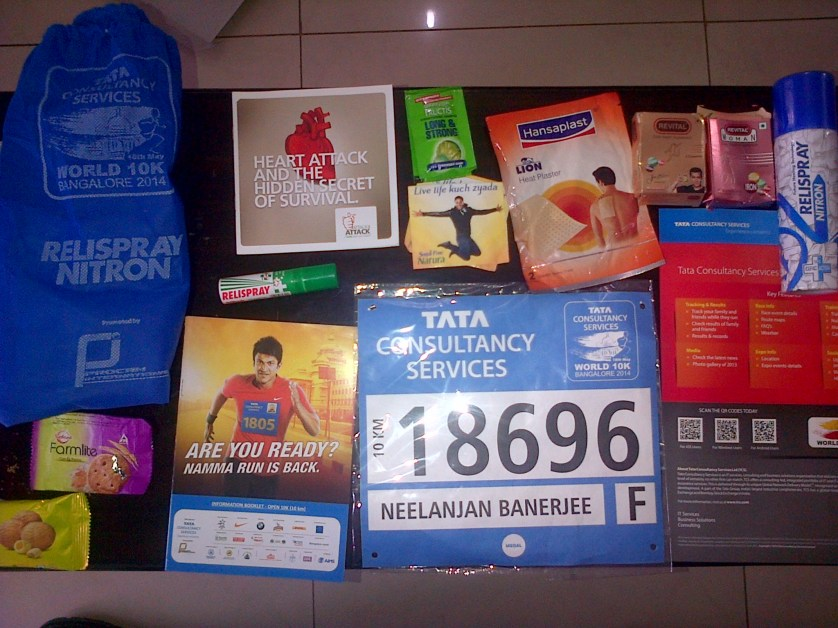 Race packet contents.