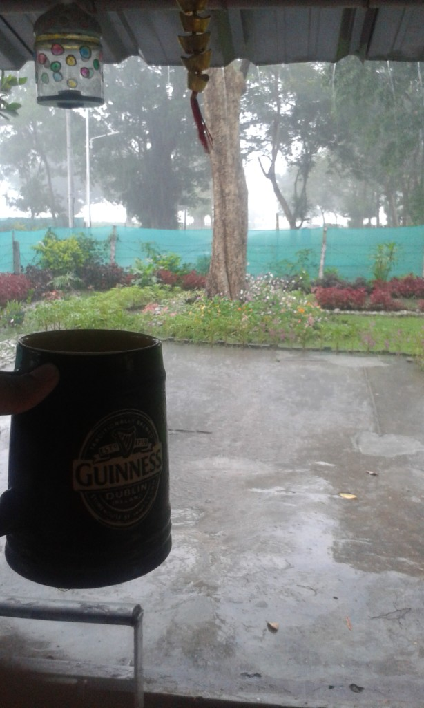 Enjoying a mug of beer..on a weekend afternoon..