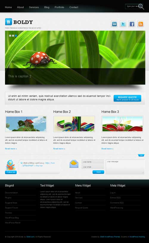 boldly free wordpress theme portfolio