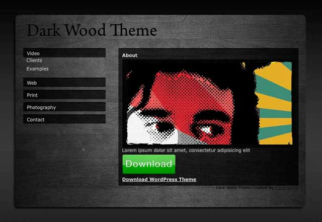 dark wood theme wordpress