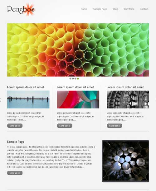 dawn pengbos free wordpress theme