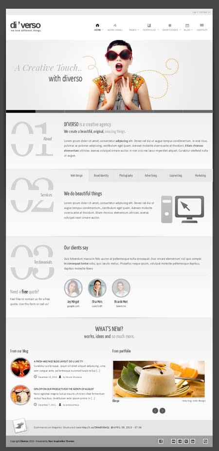 diverso freee wordpress portfolio theme