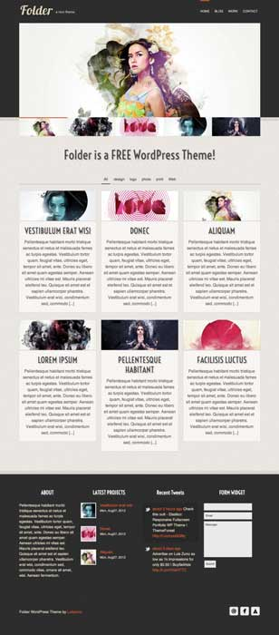 Folder free portfolio theme wordpress