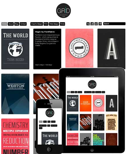 grid responsive free portfolio theme