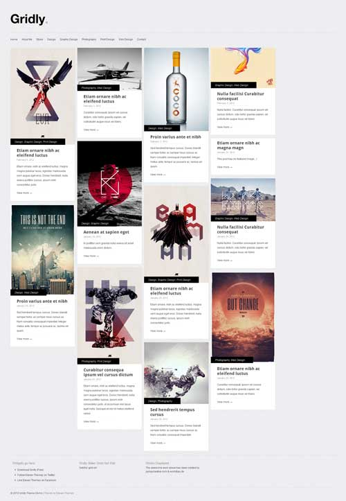 Gridly free wordpress portfolio theme