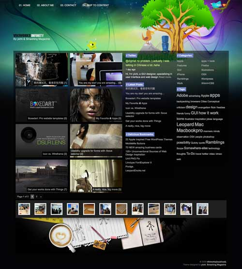 infinity free wordpress designer portfolio theme