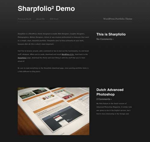 sharpfolio free wordpress theme