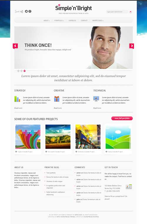 simple n bright free wordpress