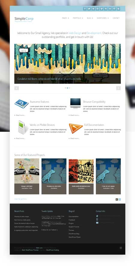 free wordpress responsive portfolio theme