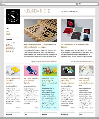 suburia free minimal wordpress theme