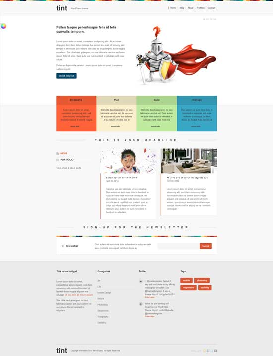 tint wordpress theme
