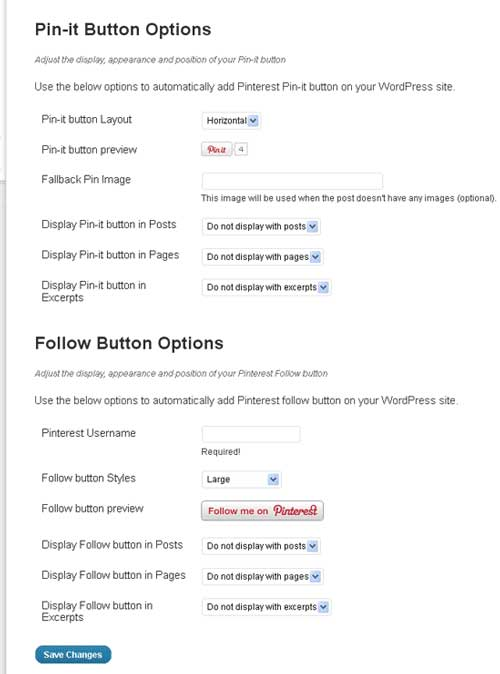 WP Pinterest plugin wordpress