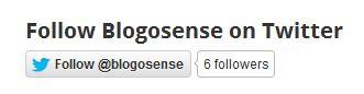 Follow blogosense on Twitter button