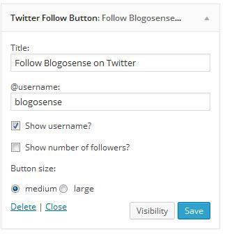 Twitter Follow Widget box