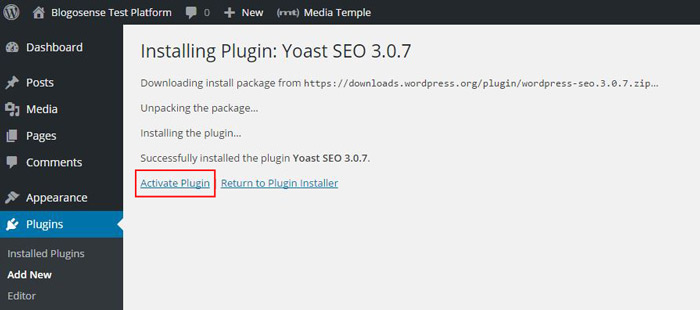 Yoast SEO installed