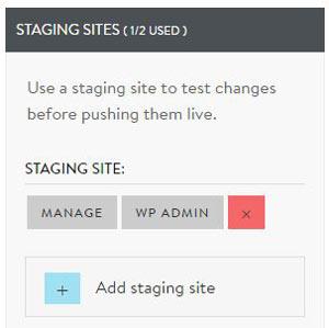 MediaTemple Staging sites