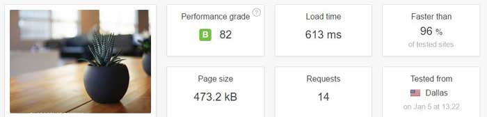Load test second InMotion WordPress optimized