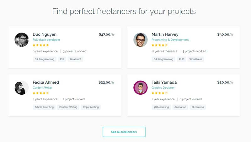 Freelance Engine freelancers