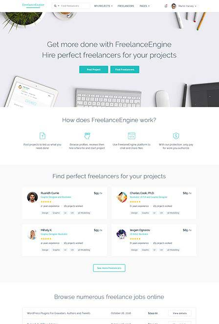 freelance engine WordPress theme review