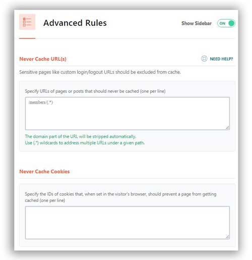 advanced rules WordPress