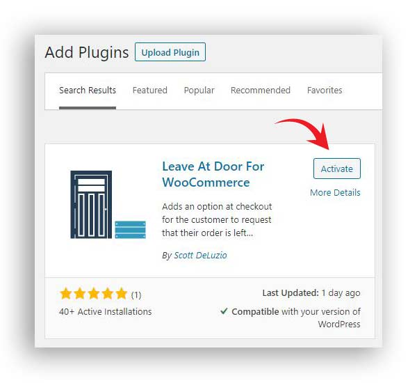 leave at door woocommerce plugin