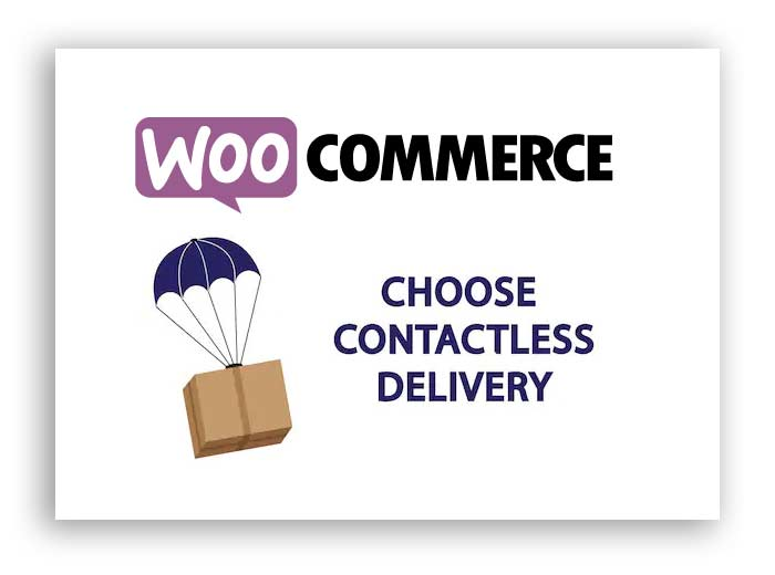 add contactless delivery in woocommerce store