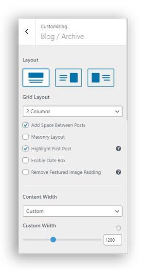 editing blog archive page wordpress