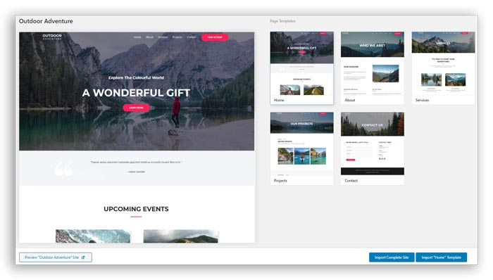 astra events templates