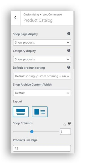 product catalog in woocommerce