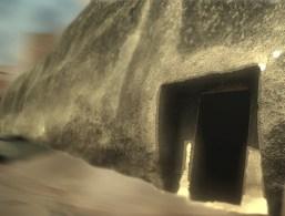 D'après l'entrée de la caverne la Sudama, art Maurya, mont Barâbar, Inde du Nord. (Marsailly/Blogostelle)