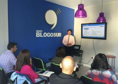 José Antonio Rodríguez en clase de Blogosur