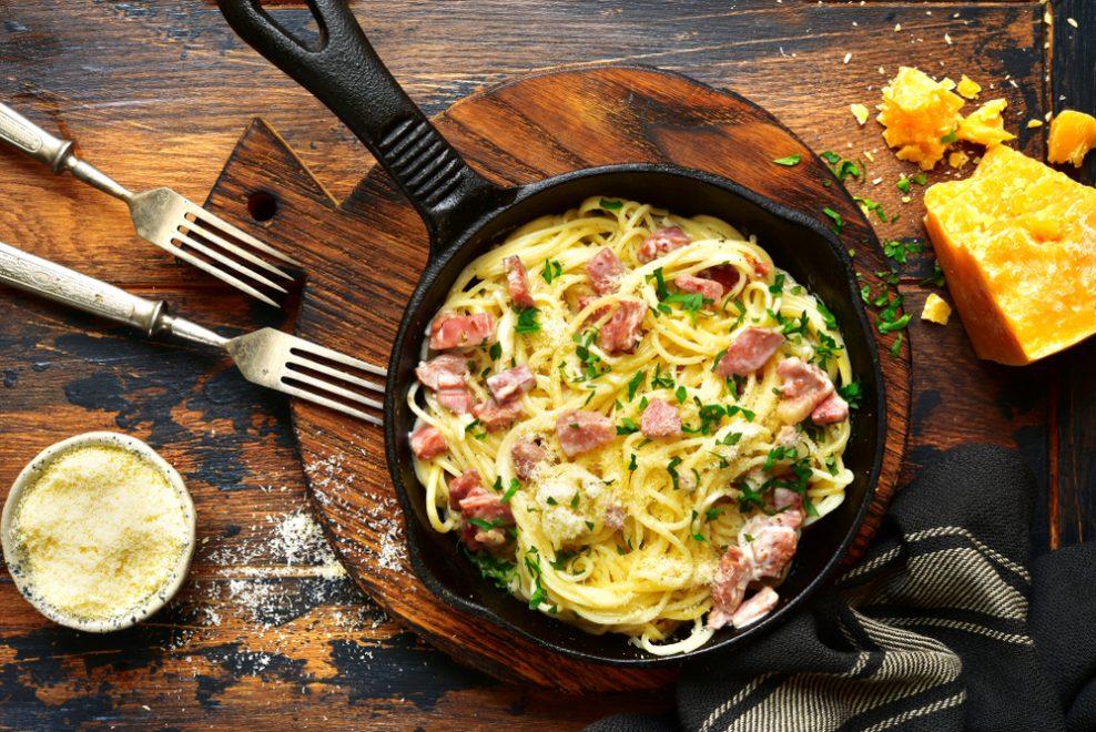 Witte pasta & romige boontjes