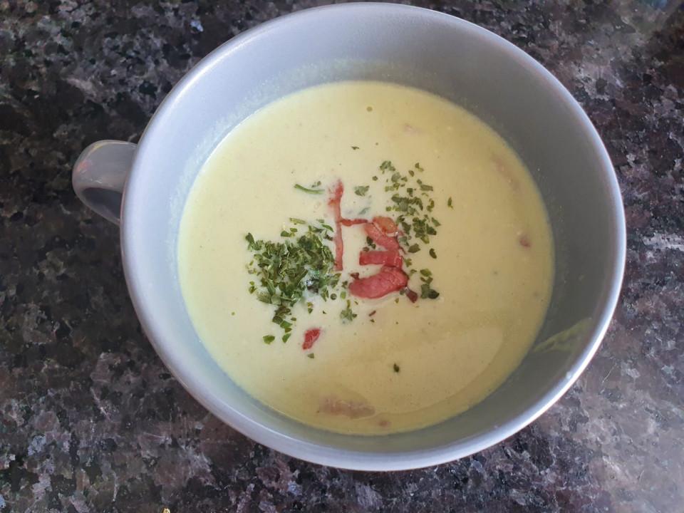 Lekkere kom avocado soep!