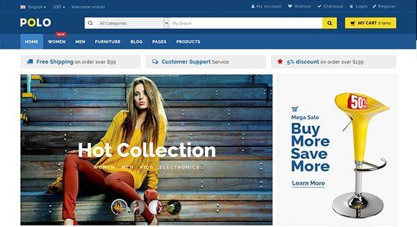 polo-tema-wordpress-crear shop-in-line-liquidación fácilmente en Internet