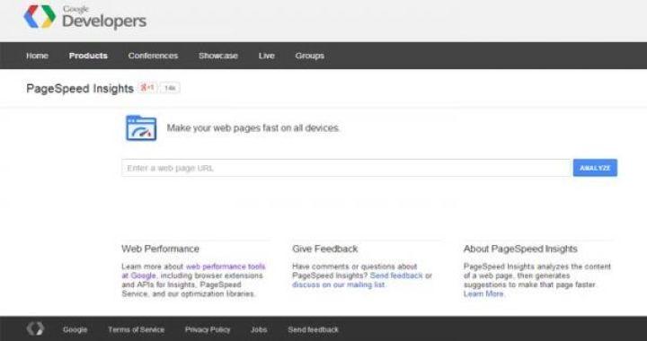 Menguji kecepatan blog Anda dengan halaman kecepatan google