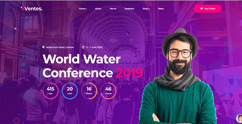 Eventes themes wordpress creer site web evenements