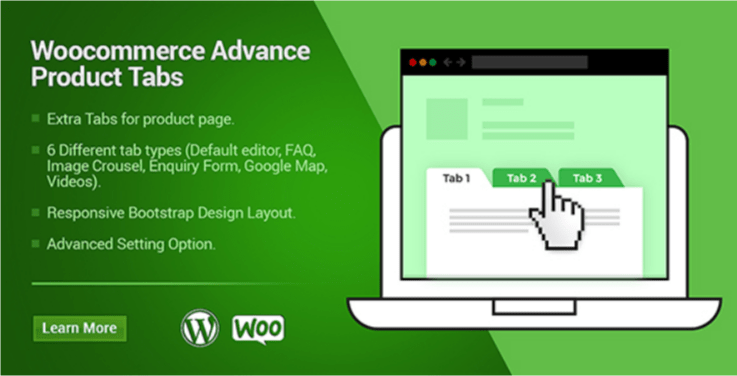 Sản phẩm Woocommerce tab plugin wordpress