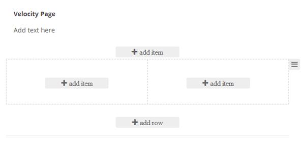 Velocity-Page-Ajout-élements