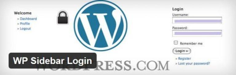 WP-Sidebar-Login