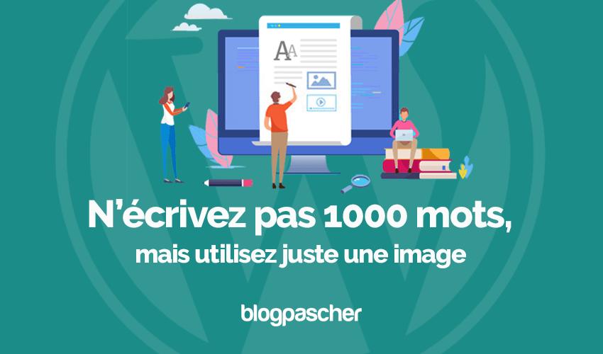 Blogueurs Ecrivez Pas 1000 Mots Utilisez Image Blogpascher