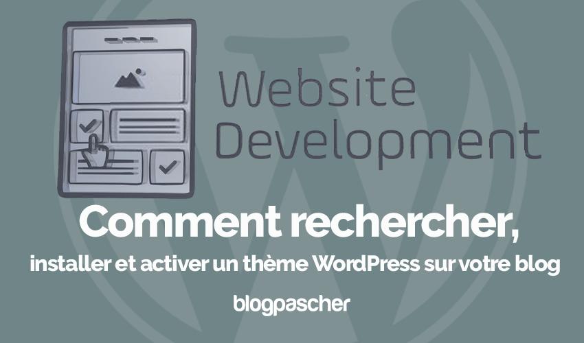 Comment Rechercher Installer Activer Theme Wordpress Blog Blogpascher 7