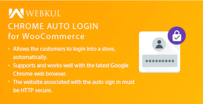 Chrome auto login for woocommerce plugin wordpress